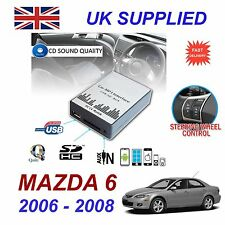 MAZDA 6 2002 - 09 mp3 USB SD CD AUX Input Adattatore Audio Digitale Caricatore CD Modulo
