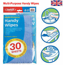 30 in Pack Blue Handy Wipe Line free Cleaning Product Sheets -Washable/Reusable