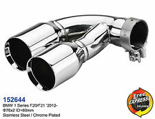 Exhaust tips dual tailpipe trims for BMW 1 series F20 F21 M Performance style