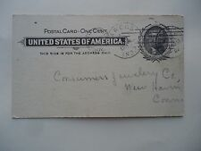 1902 Postcard Postmarked Argos Indiana to New Haven Connecticut