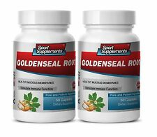 Goldenseal Root Hydrastis 520mg. Supports Immune System(2 Bottles) Free Shipping