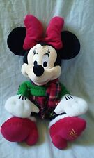 "Disney Store 16"" Plush 2012 Minnie Mouse Christmas Plaid Dress"