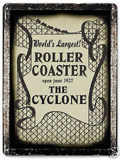 Roller Coaster METAL SIGN the Cyclone vintage antique style art wall decor 304