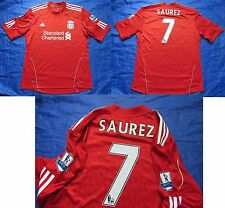 Luis SUAREZ  FC LIVERPOOL Home shirt by ADIDAS 2010-2012 /men/red/ L