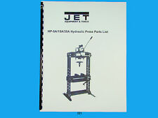 Jet   HP-5A/15A/35A Hydraulic Press Parts List  Manual *221
