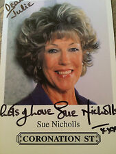 6x4 Hand Signed Photo of Coronation Street Sue Nicholls - Audrey Roberts