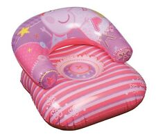 CHILDREN'S KIDS INFLATABLE BLOW UP PEPPA PIG MOON CHAIR SOFA LOUNGER 26408