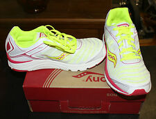 SAUCONY PROGRID KINVARA 3 SHOES SIZE YOUTH 4 WHITE/PINK FREE SHIPPING NEW IN BOX