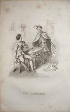 1827 la mort est à regarder les gamester un joueur & squelette richard Dagley Engravin