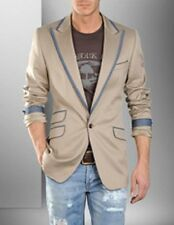 D&G DOLCE&GABBANA BLAZER JACKET SIZE 54 SPRING SUMMER BEIGE AND DENIM BLUE JEANS