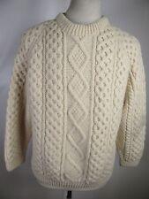Men's Blarney 100% Pure Wool Crewneck Fisherman Sweater 12513