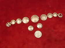 RARE HANDCRAFTED STERLING SILVER BRACELET, MADE W/EARLY 1940's AUSTRALIAN COINS