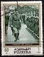 FUJEIRA CHARLES DE GAULLE GENERAL FRANCAIS   TIMBRE VIGNETTE     88M289