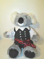 Build a Bear Pirate of Caribbean Outfit and Koala Bear Retired 16""