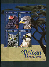 Gambia 2014 MNH africana RAPACI II 4v M / S BATELEUR Osprey OWL RED KITE