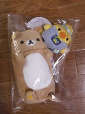Rilakkuma Pen Pouch Case & Kiiroitori set Plush Stuffed Japan San-X F/S