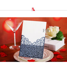 12PCS Black Laser Cut Wedding Party Invitation Card Custom Personalized Printing