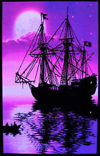 MOONLIT PIRATE SHIP - BLACKLIGHT POSTER - 24X36 SHRINK WRAPPED - 6011