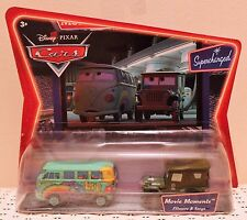 FILLMORE & SARGE MOVIE MOMENTS Disney Pixar Cars Supercharged VW Bus Army NEW