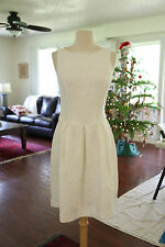 Women's American Living Ivory Casual Floral Shift Dress Sz 8