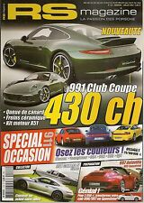 RS MAGAZINE 133 PORSCHE 991 CLUB COUPE 356 N°1 1948 356 LE MANS 1951 356 ROADSTE