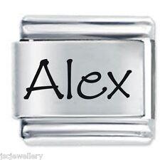 ALEX Name  - Daisy Charms by JSC Fits Classic Size Italian Charm Bracelet