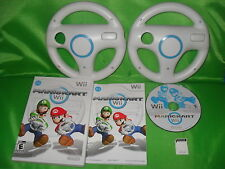 Mario Kart Nintendo Wii Game & 2 Wheels & SD Card ALL TRACKS & CARS UNLOCKED!