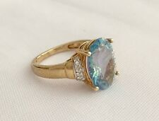 WOMENS 10K YELLOW GOLD MISTIC TOPAZ RING Size 6.75