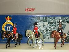 BRITAINS 40322 COLLECTORS CLUB STATE OFFICERS MOUNTED METAL TOY SOLDIER SET