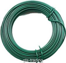HEAVY DUTY 15 METRE GARDEN WIRE PVC COATED GARDENING TYING FIXING DURABLE FC27