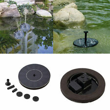 Solar Powered Water Pump Garden Fountain Pond Kit for Waterfalls  Display P2