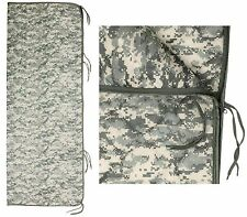 "Military Type ACU Digital Camouflage 82"" Rip-Stop Poncho Liner w/ Zipper & Ties"