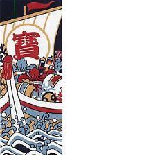 Japanese traditional towel TENUGUI TAKARABUNE The Treasure Ship MADE IN JAPAN