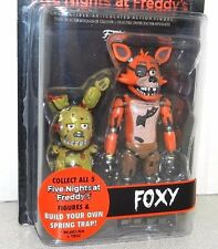 "FIVE NIGHTS AT FREDDY'S FOXY FIGURE LARGE 5"" FUNKO FNAF BRAND NEW w/SPRING TRAP"