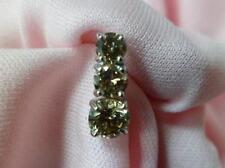 14k white gold 3 stone champagne round diamond pendant 1.21ct tw