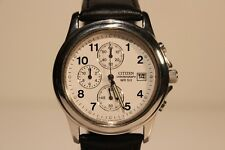 "RETRO ALL STAINLESS STEEL CHRONOGRAPH MEN'S QUARTZ WATCH ""CITIZEN"" WR 50"
