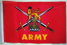 "BRITISH ARMY BUDGET FLAG small 9""x6"" ARMED FORCES MILITARY GREAT BRITAIN UK"