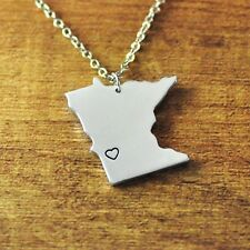 Customize Minnesota alloy map necklace,personalized pendant jewelry,State Charm