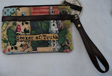 p Seeker of Truth KELLY RAE ROBERTS WRISTLET 5x7 purse on the go vegan leather