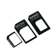 3 in 1 Nano SIM to Micro Standard SIM MICROSIM Adaptor Adapter for iPhone 5 IT