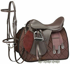 18 Inch English Saddle Package - All Purpose - Havana Brown