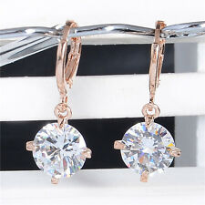 New and fashion 18K gold filled shiny cubic zirconia lady's dangle earrings