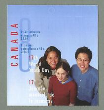 Canada 2002 LIBRETTO PIEGATA - 17th Giornata Mondiale della Gioventù (8 @ 48c) - COMPLETA-Gomma integra, non linguellato