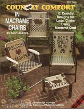 Country Comfort in Macrame Chairs Karen Andriths Lawn Chair Pattern Book NEW