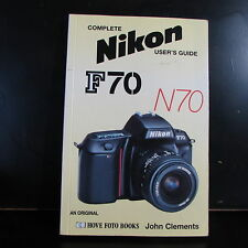 Complete Nikon F70 N70 camera User Guide Owner Manual 140 pages English
