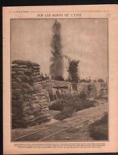 WWI  Région de l'Yser Belgique/Peloponnese Peloponnesus Grèce 1917 ILLUSTRATION
