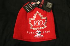 Team Canada 2015 World Juniors Hockey 100th Anniversary Toque Beanie Hat Cap