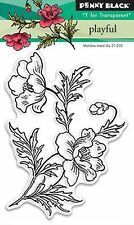 Playful Flower, Clear Unmounted Rubber Stamp PENNY BLACK- NEW, 30-347