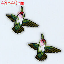 2PCS Mini birds Embroidery Sew Iron On Patch Badge Bag Clothes Fabric Appliques