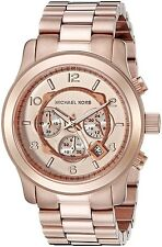 Michael Kors Original MK8096 Men's Runway Oversized Rose Gold Watch 45mm